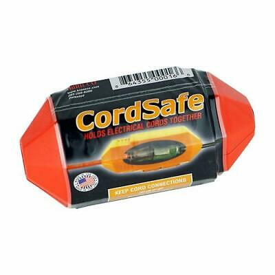 CordSafe Water Resistant Extension Cord Connector NEW Safety Orange