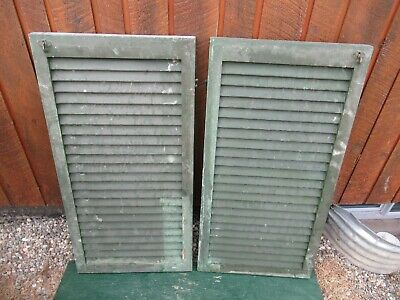 "VINTAGE Old 2 SHUTTERS Wooden 39"" long x 20"" Wide Architectural Salvage #3"