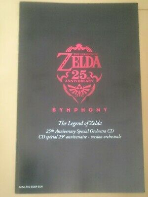 REPLACEMENT English Booklet for Zelda 25th Anniversary CD
