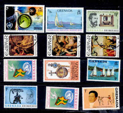 Grenada 12 Stamps MNH and Used