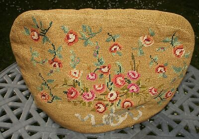 Vintage Needlepoint Tapestry Embroidered Tea Cosy