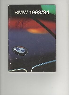 Prospectus - Catalogue Voiture  Bmw  1993/1994