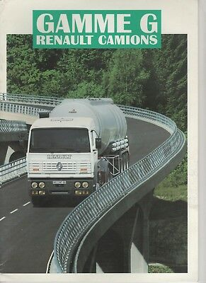 Prospectus Catalogue Renault Camions Gamme G