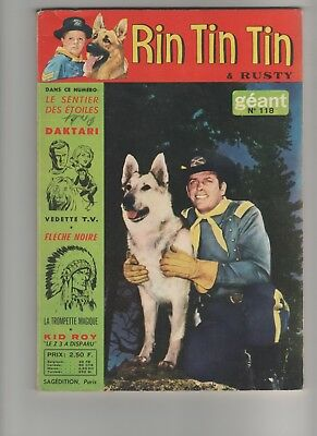Magazine Rintintin n° 118 1969 RIN TIN TIN Numero GEANT Sagéditions Paris