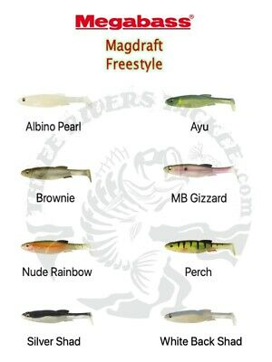 """Choose Color Megabass 6/"""" Magdraft Freestyle Swimbaits NEW"""
