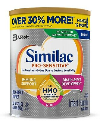 * 5x Similac PRO-SENSITIVE HMO Infant Formula Powder w/ Opti-GRO Non-GMO 29.8 Oz