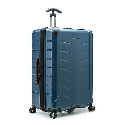 """Silverwood II 30"""" Large Checked Anti-Theft Expandable Spinner Luggage Suitcase"""