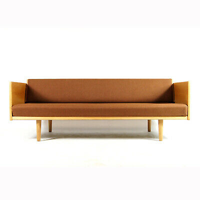 Retro Vintage Danish Oak Hans Wegner Day Bed Sofa Bed Studio Couch 1960s 70s