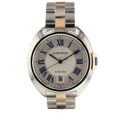 Cartier Cle de Cartier Steel and 18K Rose Gold Automatic Watch 40 mm W2CL0002