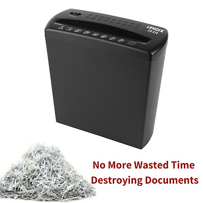 Electric Paper Shredder Home Office A4 5 Sheets 10L Bin Documents Receipts Shred