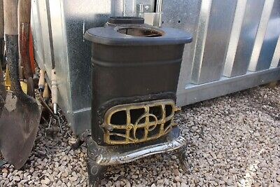 ✅ Antique Vintage Potbelly Stove Heater Burrow Stewart & Milne Co Garnet Jewel