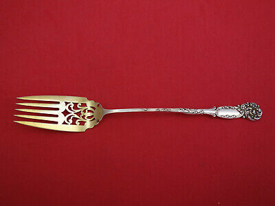 La Reine by Reed and Barton Sterling Silver Buffet Fork Goldwashed Pcd. 8 1/4""