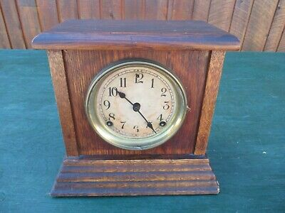 ANTIQUE Shelf Mantel SESSIONS Clock Has Old Wooden Case and Movement