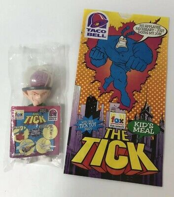 """'96 The Tick """"Charles The Brain Child"""" Toy & Taco Bell Kid's Meal Original Bag"""
