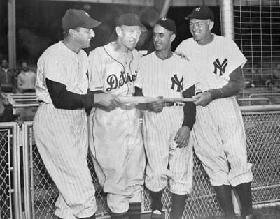 HENRICH, ROLFE, CROSETTI, BILL DICKEY 1949 Vintage BRACE 2nd Gen Photo Negative