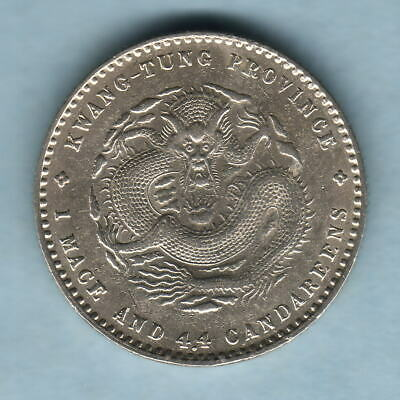 China - Kwangtung.  (1891) 20 Cents..  aUNC - Much Lustre
