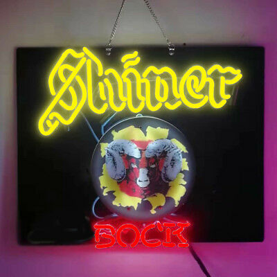 Neon Signs Gift Shiner Bock Beer Bar Pub Store Room Wall Windows Decor 24x20
