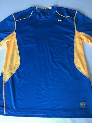 222be239 Men's NIKE ~ PRO COMBAT DRI-FIT FITTED SHORT SLEEVE SHIRT ~ Size- Large