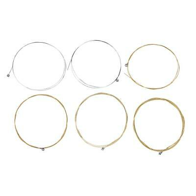 6Pcs Steel Acoustic Guitar Strings Set For Classic Folk Guitar Replacement Parts