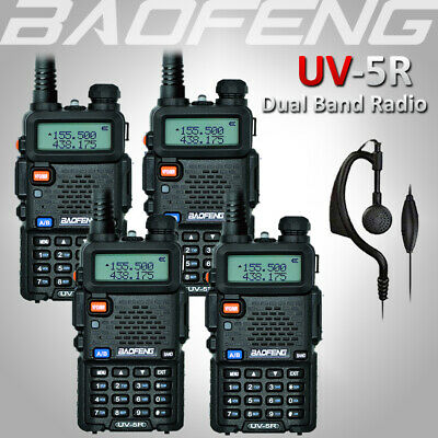 4x Portable BAOFENG UV-5R UHF/VHF Two Way Ham FM Radio Transceiver Walkie Talkie