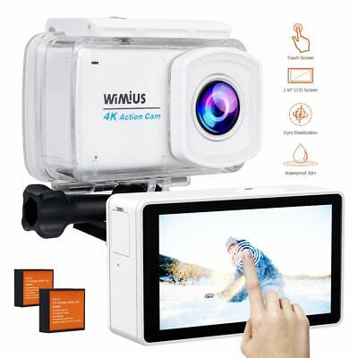 "Underwater Action Camera 4K 2.45"" LCD Touch Screen 16MP 1080P Sports Camcorder"