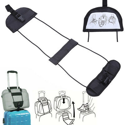 Add A Bag Strap Carry On Bungee Travel Luggage Suitcase Adjustable Tape Belt AU