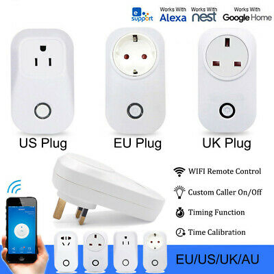 Wireless Wifi Smart Power AU Plug Socket Outlet Switch For ECHO ALEXA GOOGLE