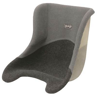 OMP Universal Covered Kart Karting Race Seat With Grey Carpet Covering 38cm Wide