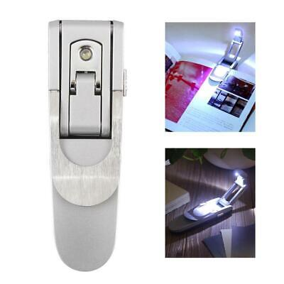 NEW Bright clip on LED Book Light reading Booklight lamp bulb  DI