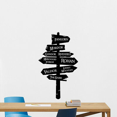 Lord Of The RIngs Way Sign Wall Decal Tolkien Vinyl Sticker Movie Decor 263crt