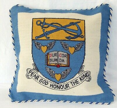 Household Division Guards Heraldic Needlepoint Cushion Cover Tapestry Handmade