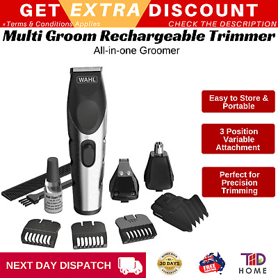 Wahl Electric Cordless Hair Clipper Rechargeable Shaver Beard Clipper Groomer