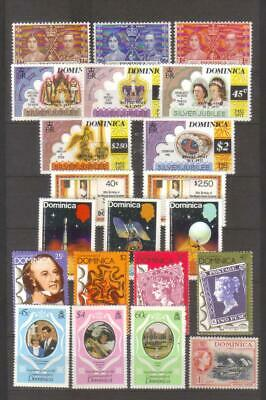 10376-  Dominica, former British Colonies, collection of stamps.
