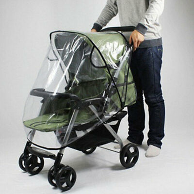 Quality Universal Buggy Pushchair Stroller Pram Transparent Rain Cover Baby