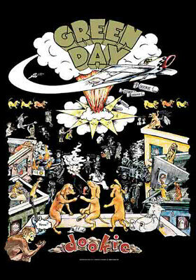Green Day Dookie Posterflaggen Fahne 75x110cm
