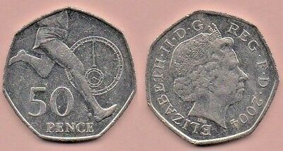 GB Coins - 2004 - 50p Coin - Roger Bannister - 1st 4 minute mile