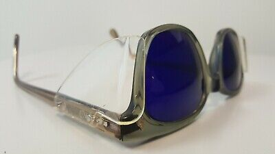 A.O. cobalt welding glasses Classic Buddy Holly style frames