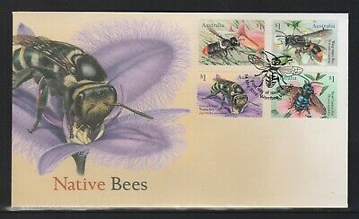 AUSTRALIA 2019 - NATIVE BEES Insects Design set of 4 x $1 on FDC