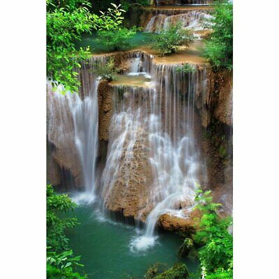 Waterfall in Thai National Park Unframed Canvas Painting to Refreash Room Wall's