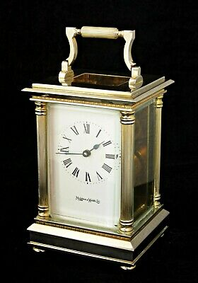 Vintage Mappin & Webb Carriage Clock, Silver & Gold Finish, Serviced, Works Well