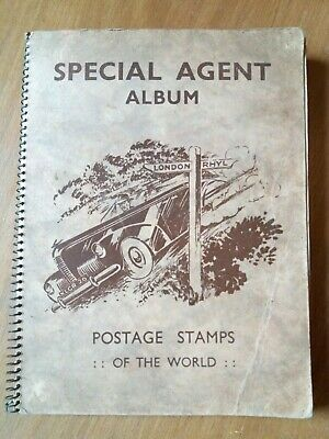 SPECIAL AGENT Stamp Album containing over 1000 worldwide stamps.