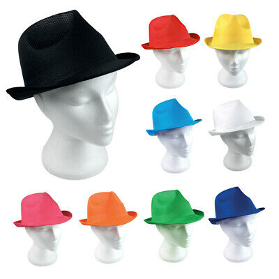 d8d81c98 10 Fedora Sun Hats PANAMA Trilby Style Mens Ladies Bowler Party Jazz  Gangster UK