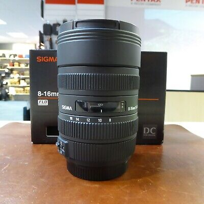 Used Sigma DC 8-16mm f4.5-5.6 HSM lens in Sony A fit - 1 YEAR GTEE