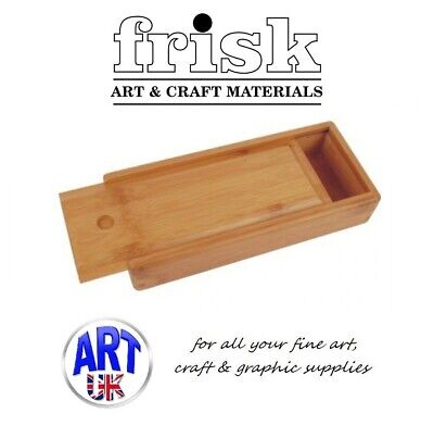 Frisk Professional Artist Wooden Brush/Paint/Tools Storage Box Bamboo Case