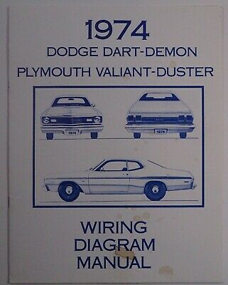 1974 DODGE DART-DEMON Plymouth Valiant-Duster Wiring Diagram Manual on 1972 dodge b300 wiring diagram, 1972 ford thunderbird wiring diagrams, dodge charger wiring diagrams, 1972 dodge challenger wiring diagram, 1977 dodge electrical diagrams, 1972 dodge truck wiring diagram, dodge truck electrical diagrams, 1972 dodge dart wiring diagrams,
