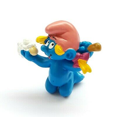 Baby Smurf Schleich 20179 White With Rattle 1984 Hong Kong 1 5//8in