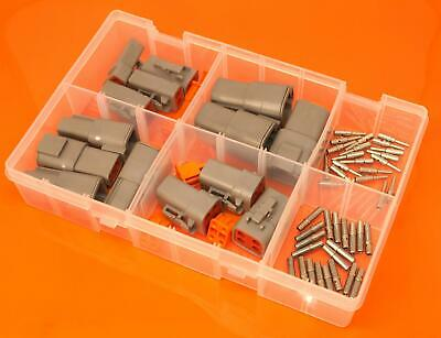 Genuine Deutsch DTP Series Assorted Electrical Connector Box Set - 68 Pieces