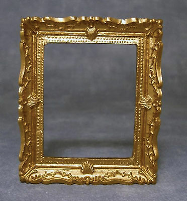 1:12 Scale Gold Ornate Picture Frame With Acetate Tumdee Dolls House Accessory