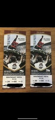 2019 Indianapolis Indy 500 Tickets (2) AISLE SEATS!