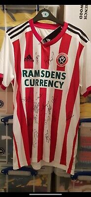 2018-19 Sheffield United Football Shirt - Signed by First Team